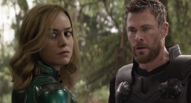 avengers infinity war captain marvel weird trailer
