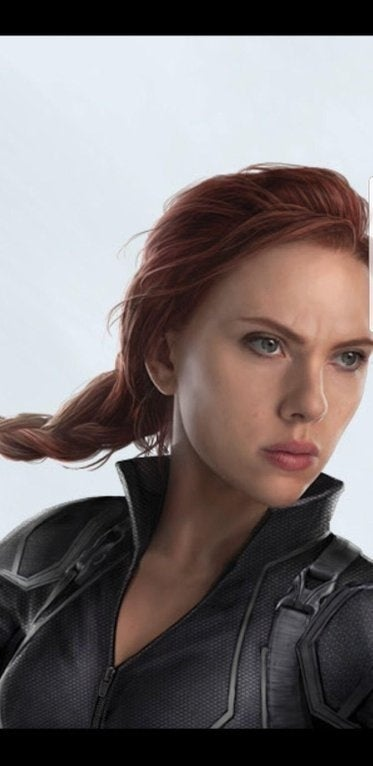 Avengers 4 Close Up Of Black Widows New Hairstyle
