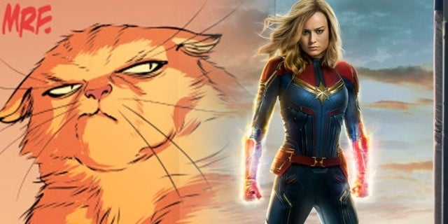 Watch 'Captain Marvel's Brie Larson Get Scared by a Giant Cat on 'Ellen'