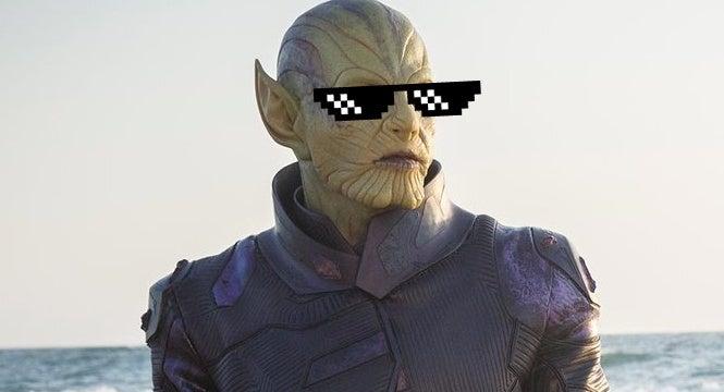 captain marvel skrulls meme