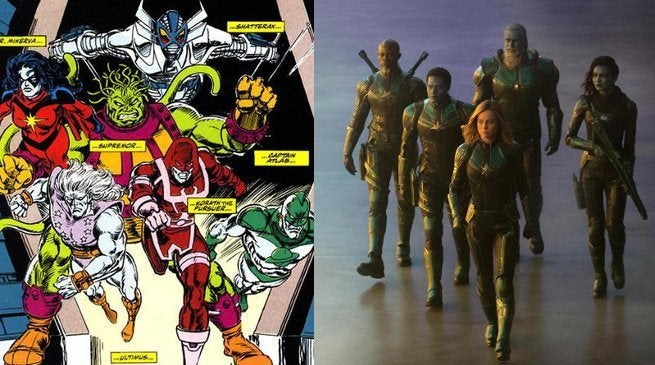 Captain Marvel Starforce Comics MCU