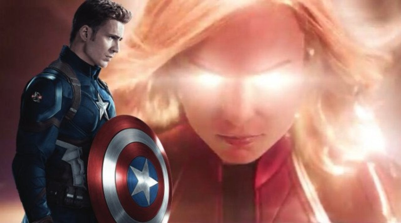 captain america reacts to new 'captain marvel' trailer