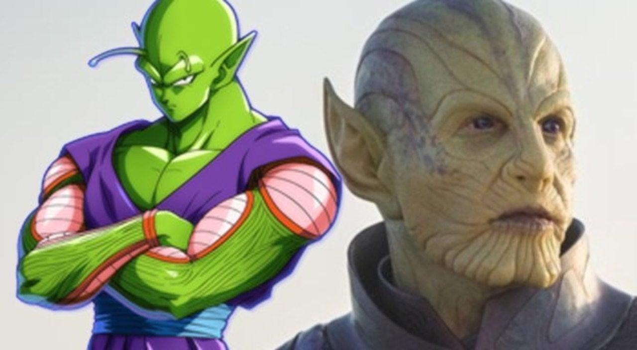 Captain Marvel Skrulls Draw Hilarious Dragon Ball Piccolo Comparison