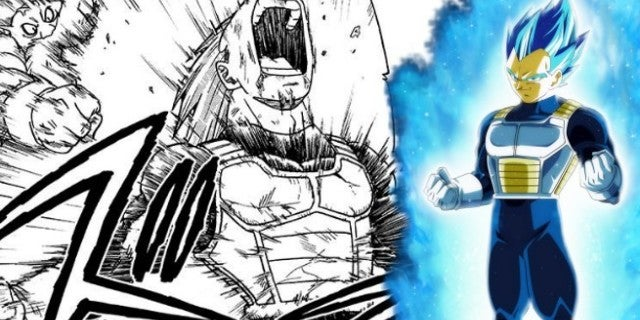 Dragon Ball Super Manga Vegeta SSBB Power