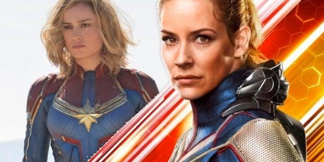 Evangeline Lilly Wasp Captain Marvel COMICBOOKCOM