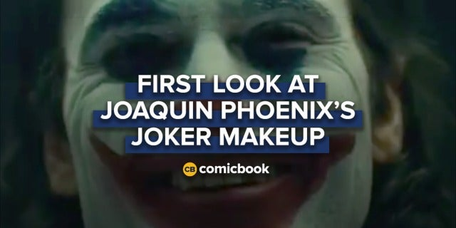 First Look at Joaquin Phoenix's Joker Makeup screen capture