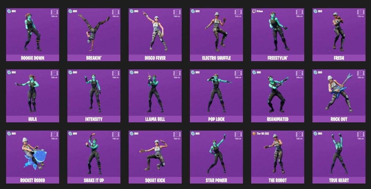 fortnite emotes
