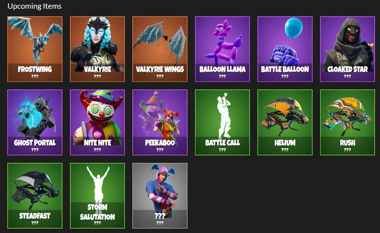 fortnite leak reveals tons of new cosmetic items coming soon - fortnite cosmetic items