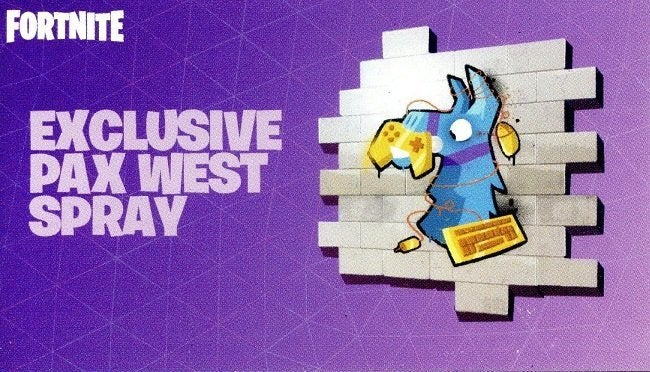 Fortnite PAX West Spray