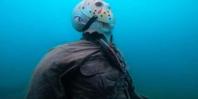 friday the 13th jason voorhees underwater statue