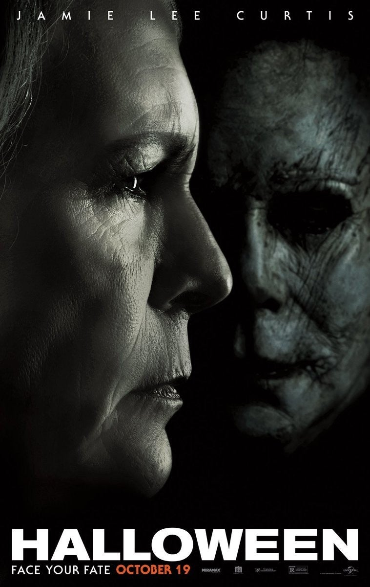 Halloween (2018) Poster Laurie Strode Michael Myers