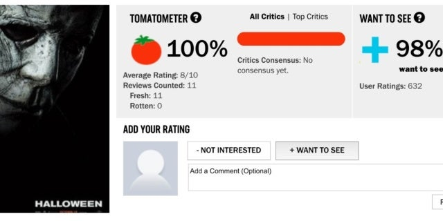 halloween movie 2018 rotten tomatoes page