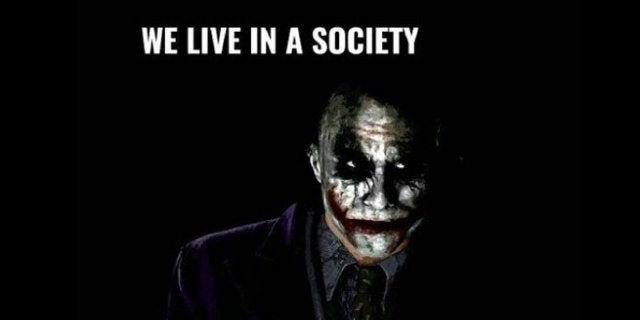 Joker Movie We Live In A Society Meme Petition