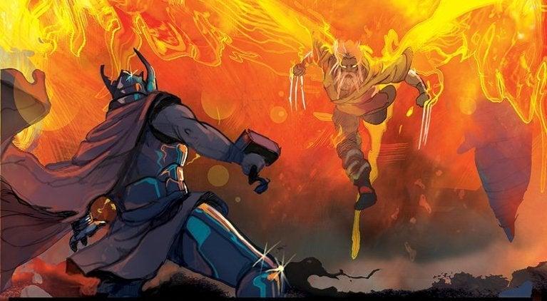 King Thor vs Wolverine