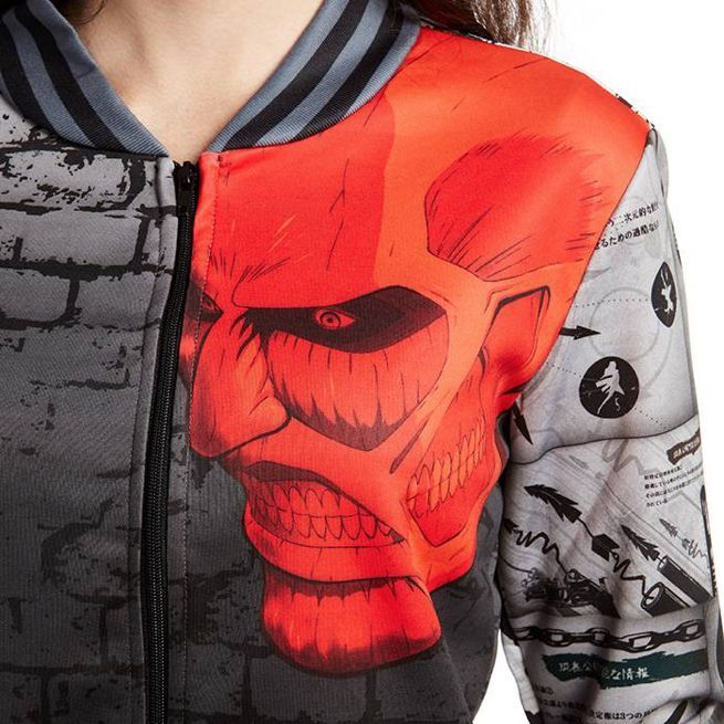 39 attack on titan 39 wall breach jacket features the anime. Black Bedroom Furniture Sets. Home Design Ideas