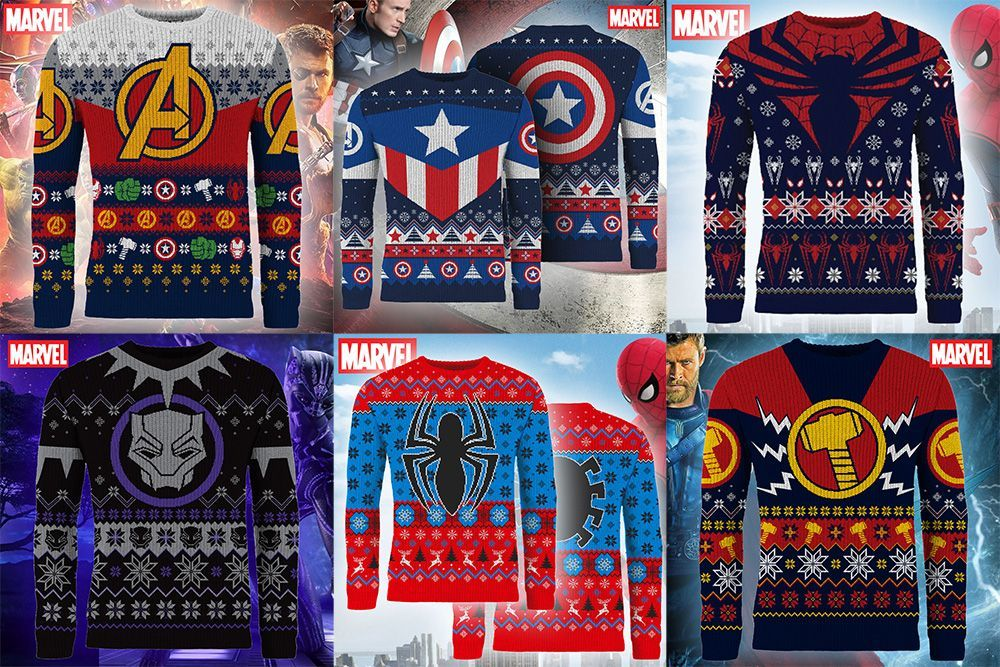 55685bf1af2c The 2018 Marvel Ugly Christmas Sweater Lineup is Here