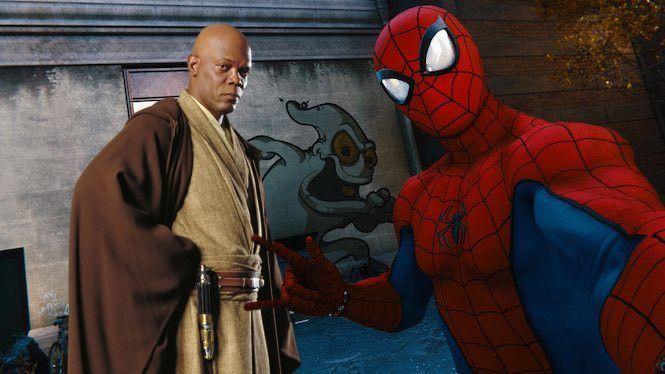 marvels-spider-man-ghost-spider-mace-windu-star-wars