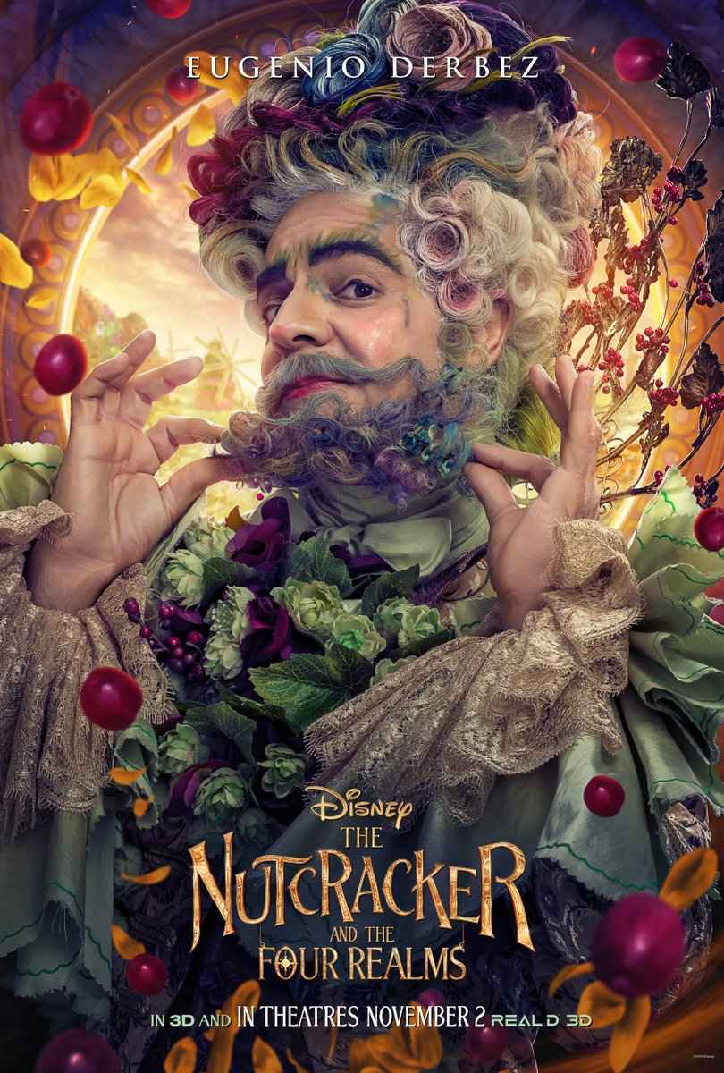 Nutcracker and the Four Realms Eugenio Derbez Flower Realm King