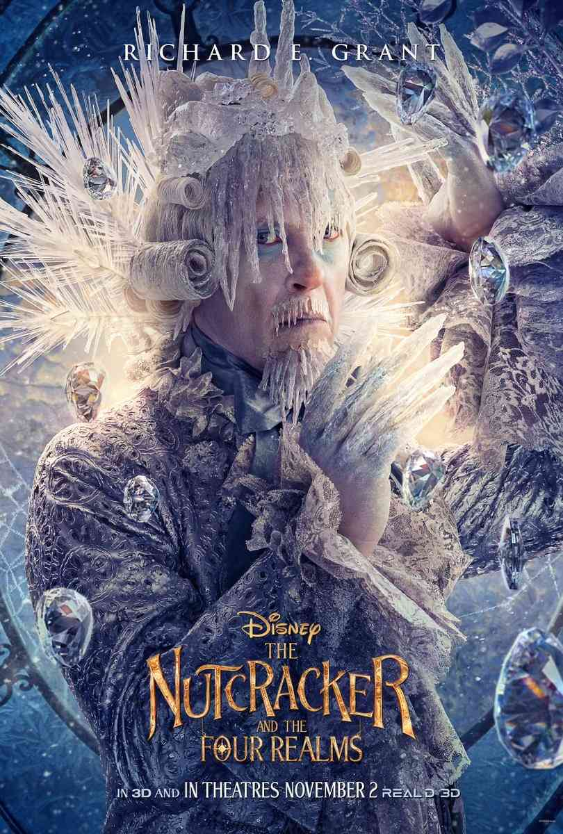 Nutcracker and the Four Realms Snow Realm King Richard E Grant