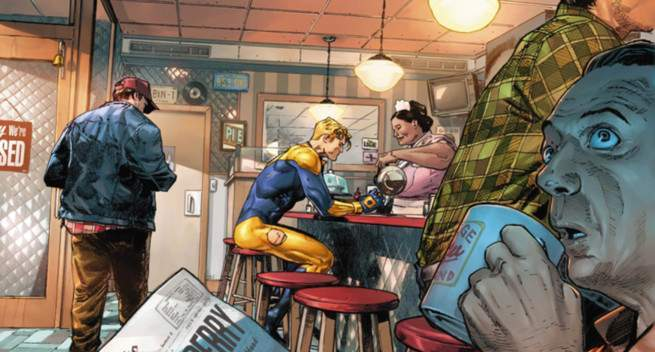 Review Heroes In Crisis #1 - Booster Gold