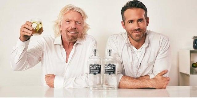 ryan reynolds richard branson aviation gin