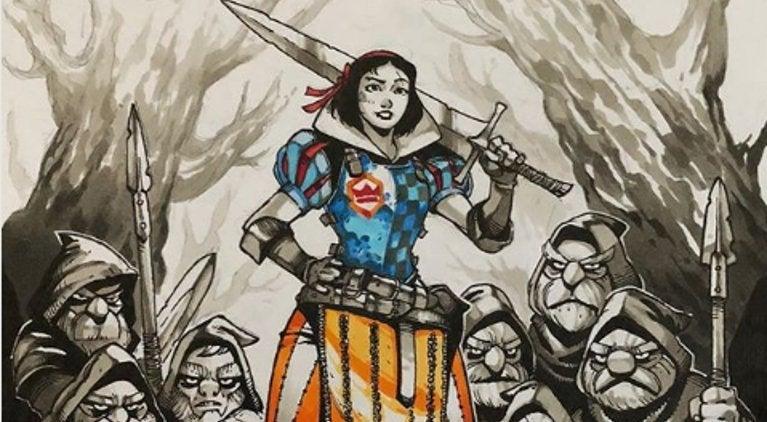 Snow White Armored Fan Art