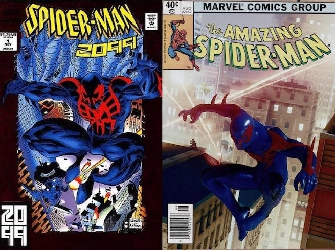 marvel s spider man fan recreates spider man 2099 first cover