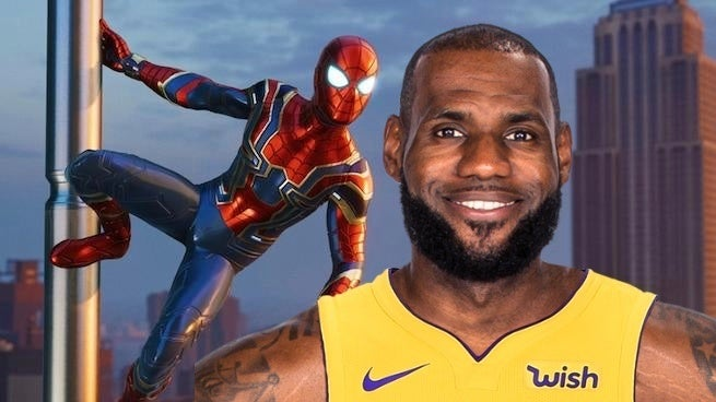 spider-man lebron james
