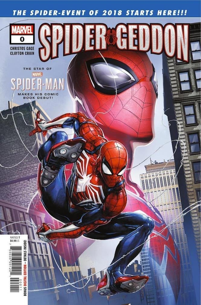marvel s spider man game story continues in new spider geddon comic