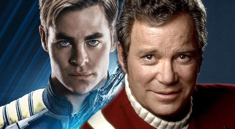 Star Trek Captain Kirk William Shatner Chris Pine