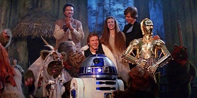 star wars return of the jedi end celebration
