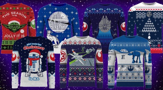 5f263372463a The 2018  Star Wars  Ugly Christmas Sweater Lineup Has Arrived