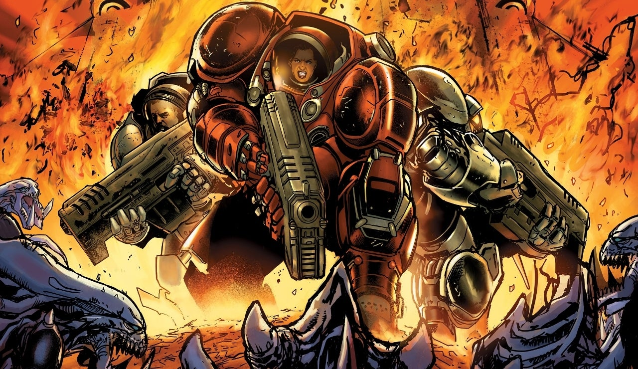 starcraft comic soldiers