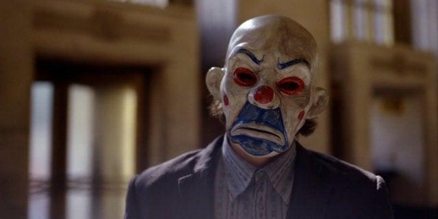 The Dark Knight Bank Heist Joker Mask