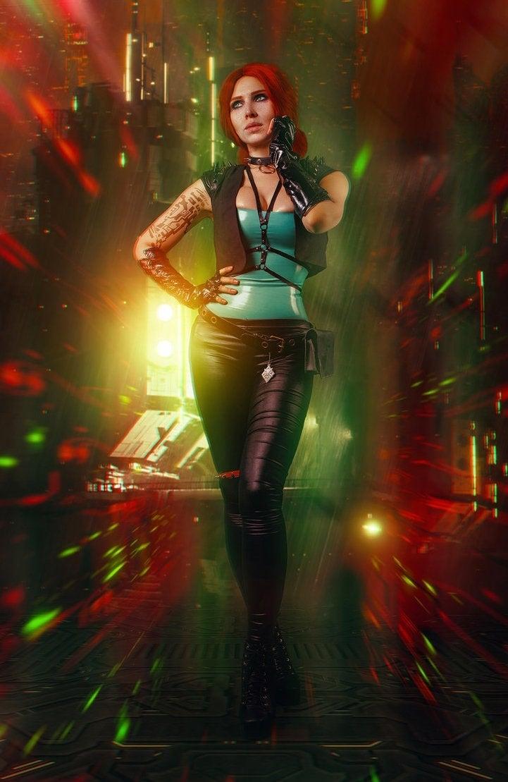 Hasil gambar untuk triss cyberpunk 2077