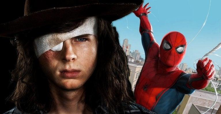 Walking Dead Chandler Riggs Spider-Man comicbookcom