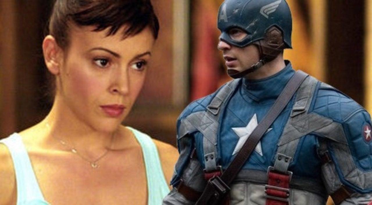 Alyssa Milano Movie Scenes charmed' star alyssa milano dresses as captain america to