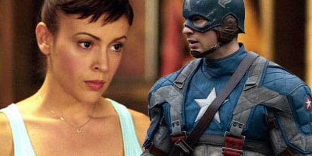 'Charmed' Star Alyssa Milano Dresses As Captain America To Urge People To Vote