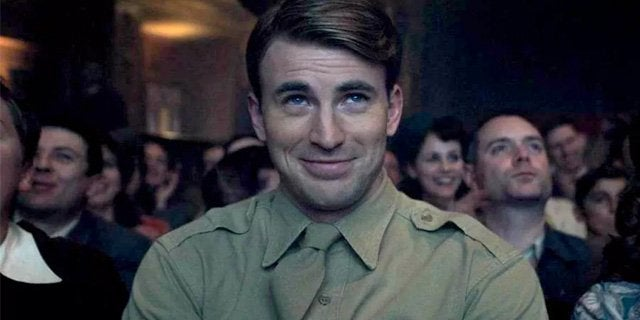 chris evans captain america smiling first avenger
