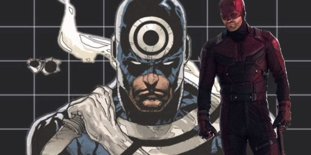 Daredevil Season 3 NYCC Panel Wilson Bethel Bullseye Logo Forehead