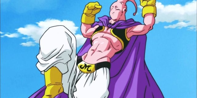 Dragon Ball Super Majin Buu Slim vs Goku