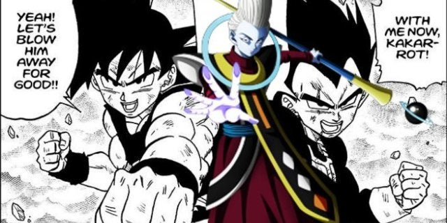 Dragon Ball Super Manga Whis Goku Vegeta Tag Team Fight Training