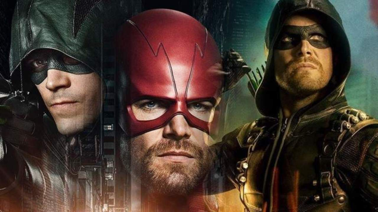 elseworlds photo reveals grant gustin in green arrow costume