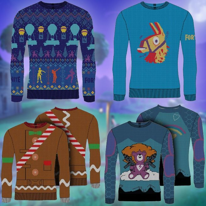 c181cf6a5 Fortnite' Gets a Line of Ugly Christmas Sweaters