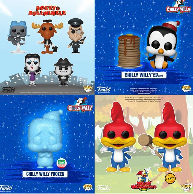 Funko Launches Rocky And Bullwinkle Woody Woodpecker And Chilly