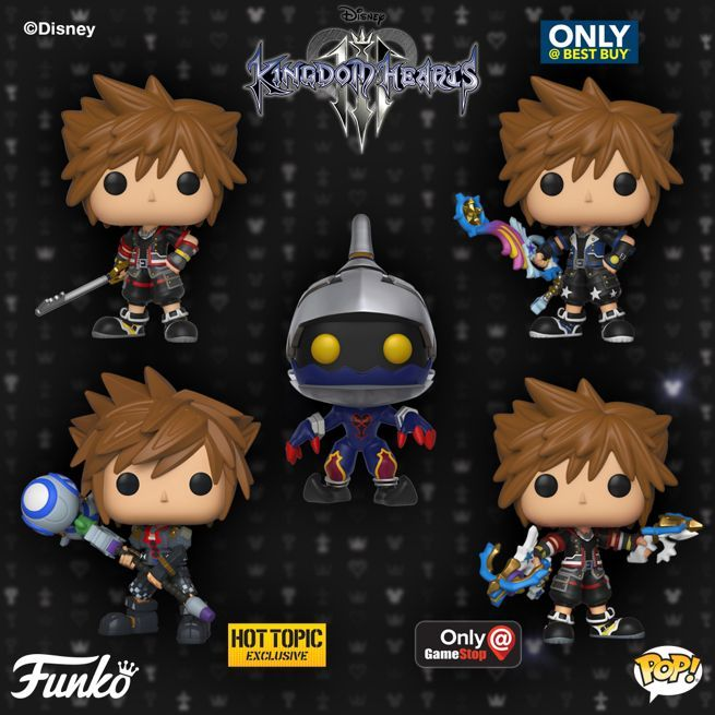 Shadow Heartless 2018, Toy NEU Kingdom Hearts 3 Funko Pop Keychains: