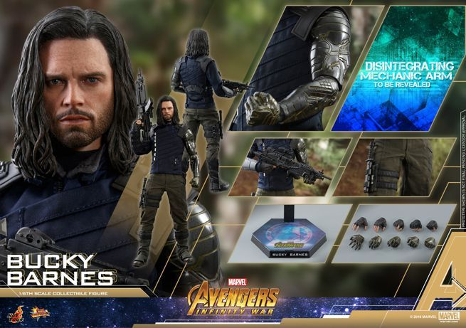 The Hot Toys 'Avengers: Infinity War' Bucky Barnes Figure Is Turning to Dust