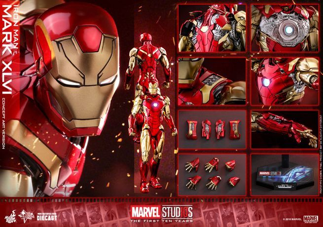 Hot Toys - MARVEL 10 - Iron Man Mark XLVI (Diecast) collectible figure_PR26
