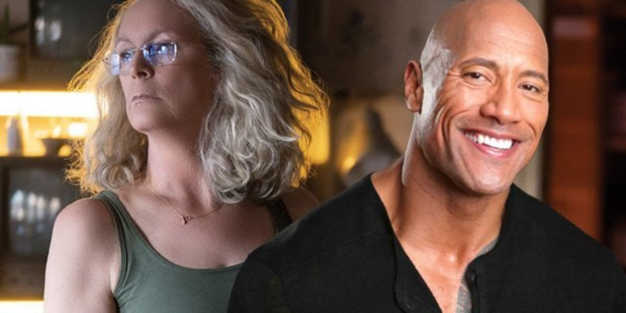 halloween's jamie lee curtis and the rock praise each other on twitter