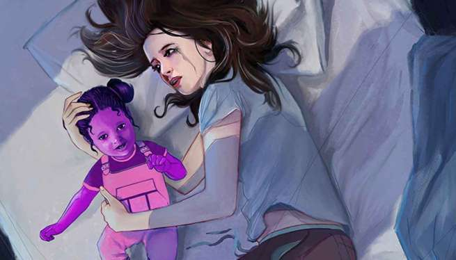 Jessica Jones Digital - Purple Baby